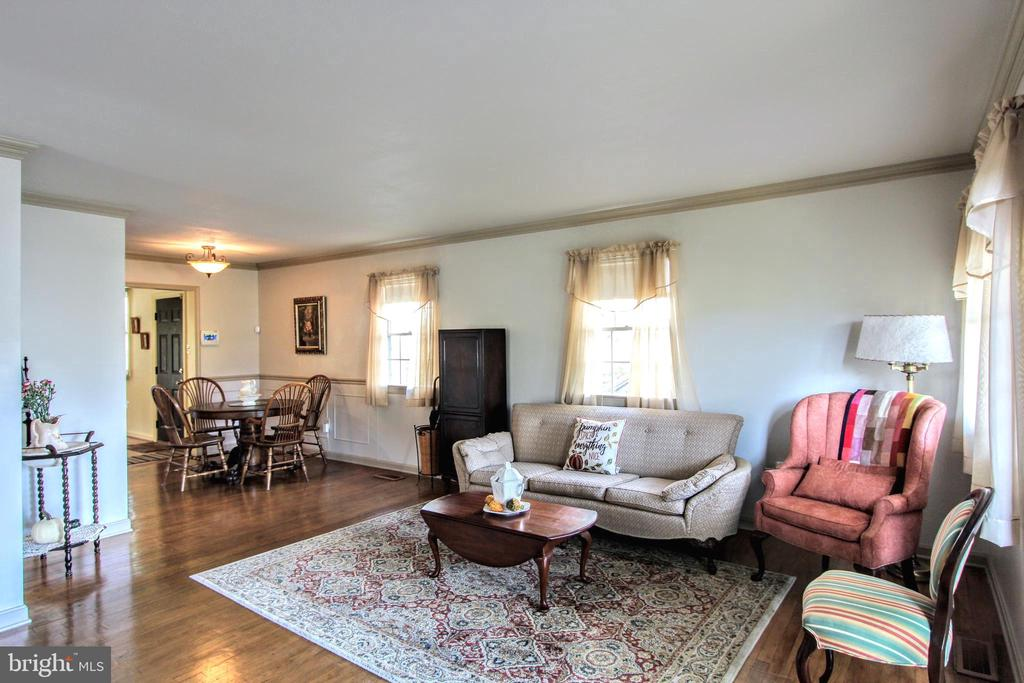 Living Room and Dining Room - 1836 GILSON ST, FALLS CHURCH