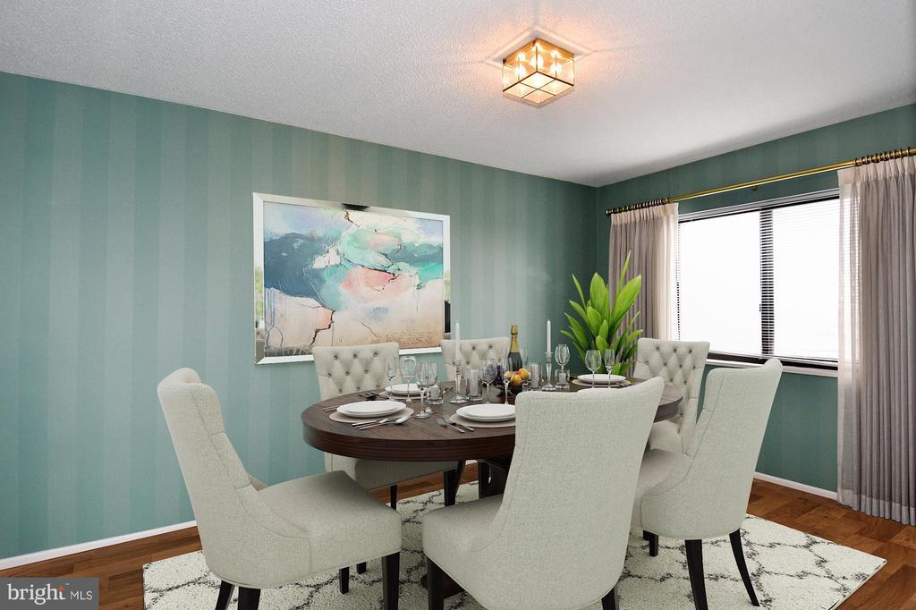Designer-added hardwoods and furniture - 900 N STAFFORD ST #2430, ARLINGTON