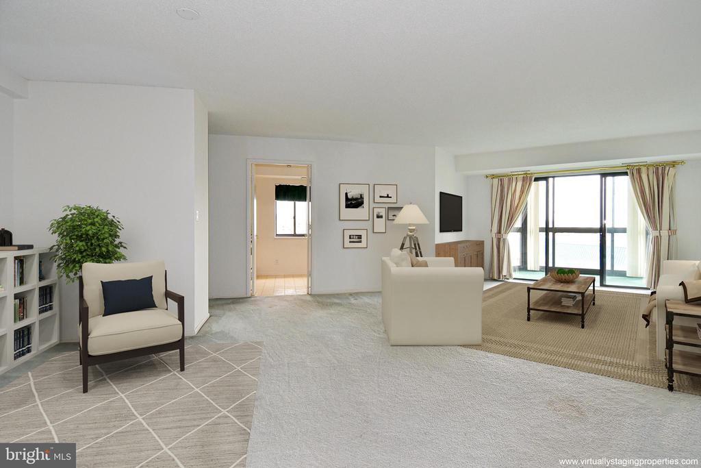 One Designer's idea for the Living Room - 900 N STAFFORD ST #2430, ARLINGTON