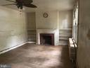 Living Room Fireplace - 1325 INGRAHAM ST NW, WASHINGTON