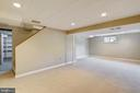 Downstairs ~ finished  room for lots of options - 812 BOWIE RD, ROCKVILLE