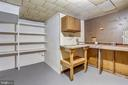 Built in work bench and storage - 812 BOWIE RD, ROCKVILLE