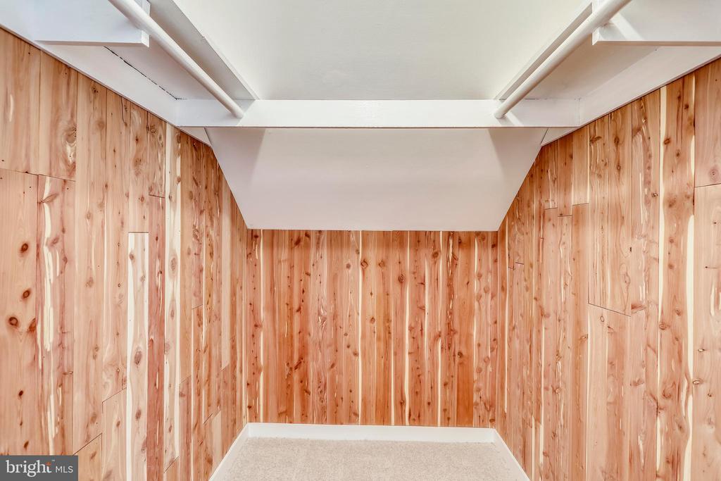 Walk In Cedar Closet - upstairs with light - 812 BOWIE RD, ROCKVILLE