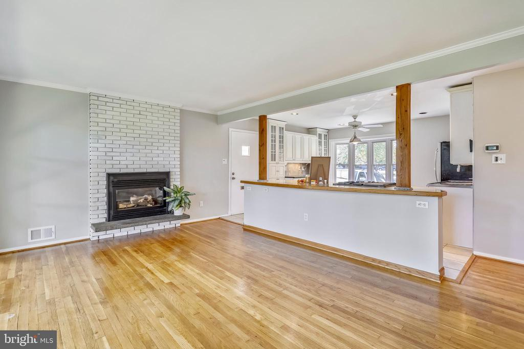 Gas Fireplace  ~with blower to help warm the house - 812 BOWIE RD, ROCKVILLE