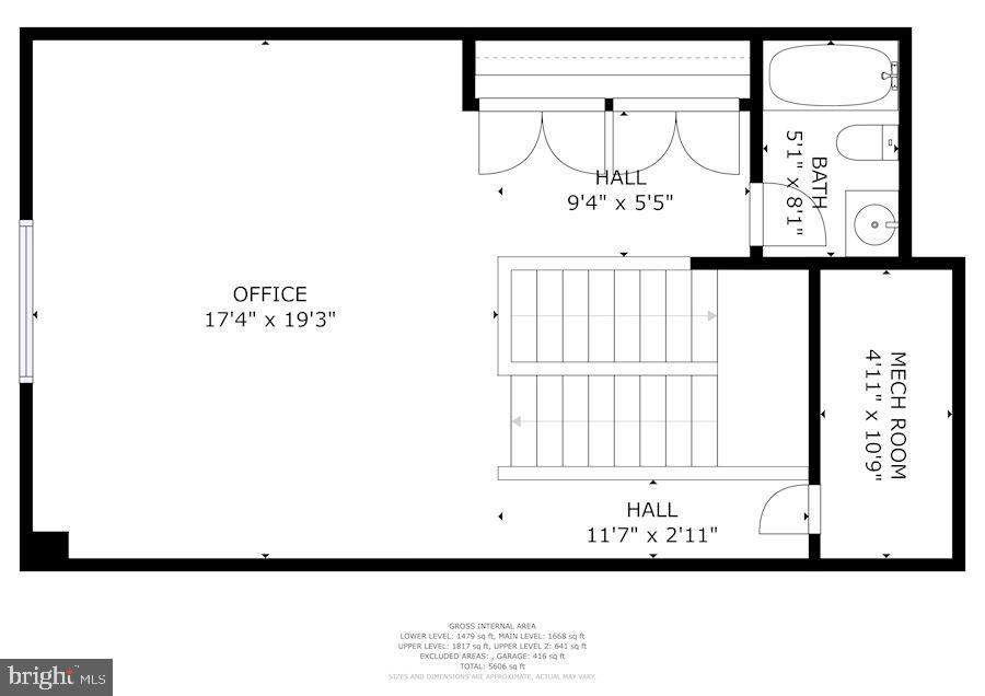 Floor Plan Upper, Upper Level - 7874 PROMONTORY CT, DUNN LORING