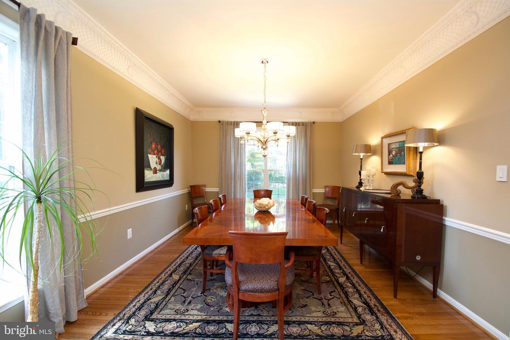 Formal dining room! - 5793 VALLEY VIEW DR, ALEXANDRIA
