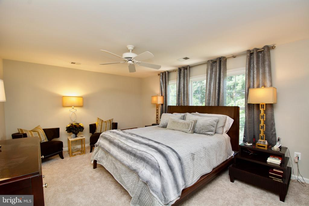 Master Bedroom with ceiling fan, walk in closet - 5793 VALLEY VIEW DR, ALEXANDRIA