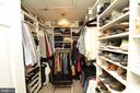 Walk in closet with room for shoes:) - 5793 VALLEY VIEW DR, ALEXANDRIA