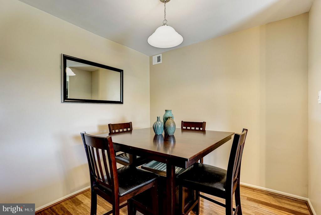 Dining Room - Hardwood Floors - 5758 VILLAGE GREEN DR #F, ALEXANDRIA