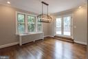 generous dining room opening to extensive deck - 3700 ALBEMARLE ST NW, WASHINGTON