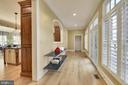 Main level hall behind Kitchen, leads to mud room. - 9880 PALACE GREEN WAY, VIENNA