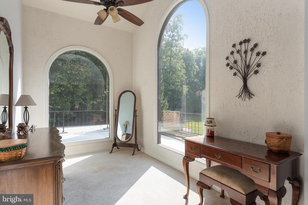Master Sitting Room with Views of the Terrace - 4820 WINTERGREEN CT, WOODBRIDGE