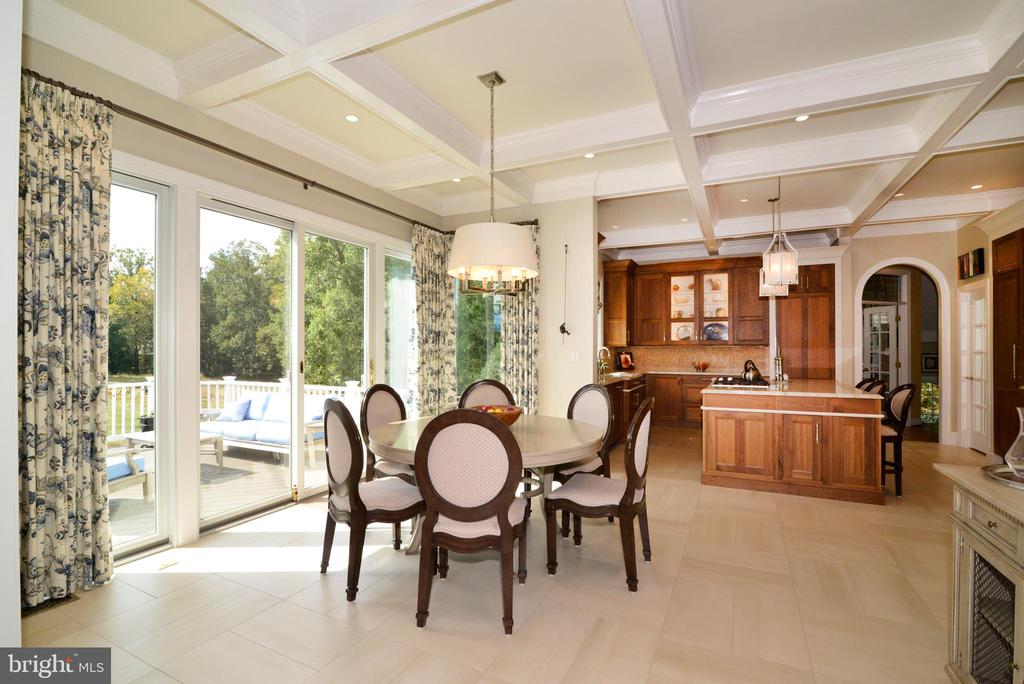 View of Breakfast Room and Custom Kitchen. - 10507 WICKENS RD, VIENNA
