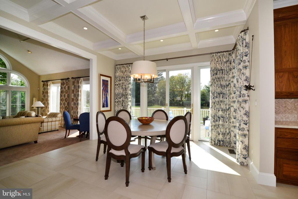 Breakfast Room Opens to Deck Overlooking Rear Yard - 10507 WICKENS RD, VIENNA