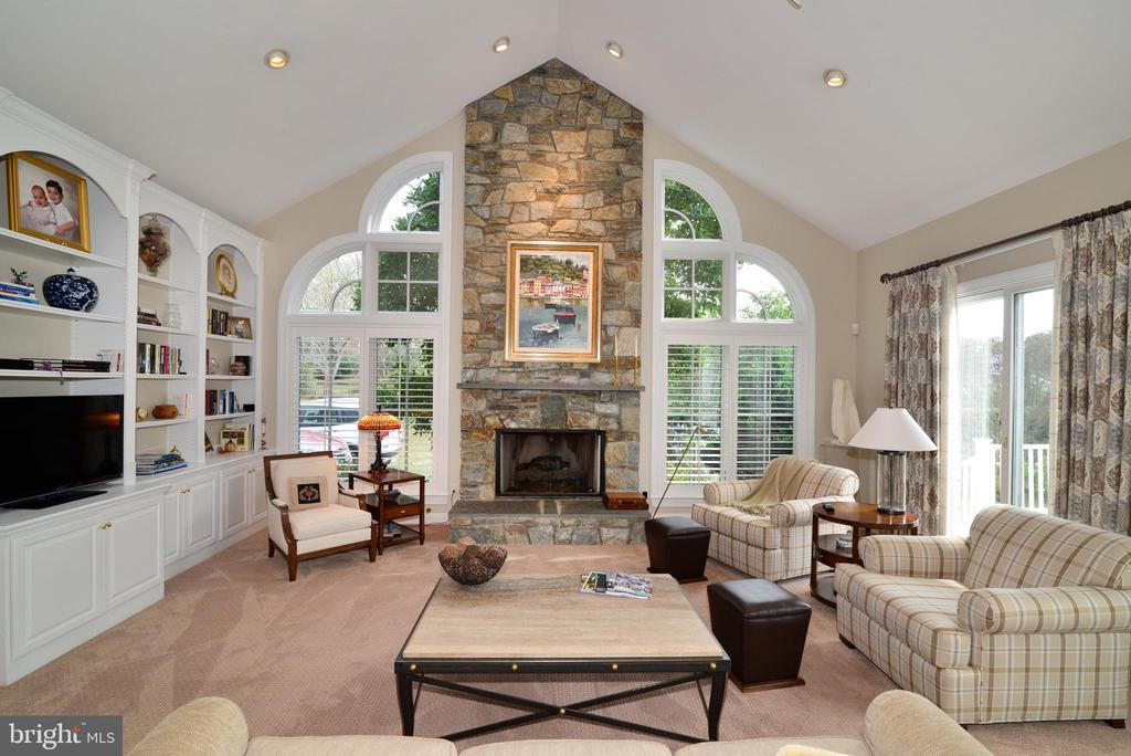 Floor to Ceiling Stone Gas Fireplace. - 10507 WICKENS RD, VIENNA