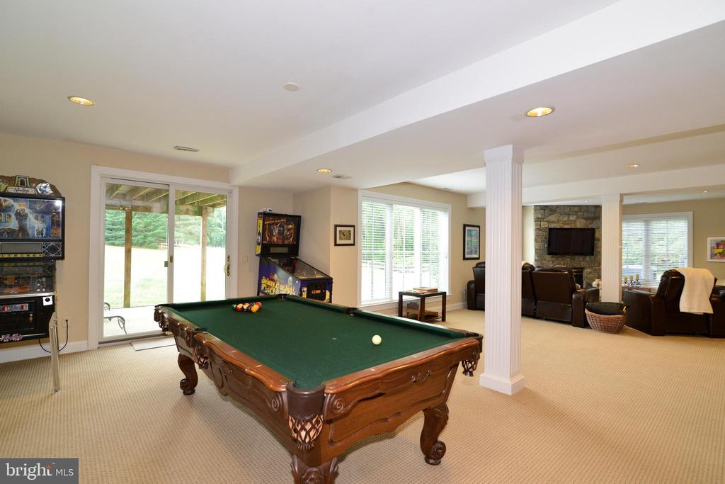 Lower Level Billiard Room. - 10507 WICKENS RD, VIENNA
