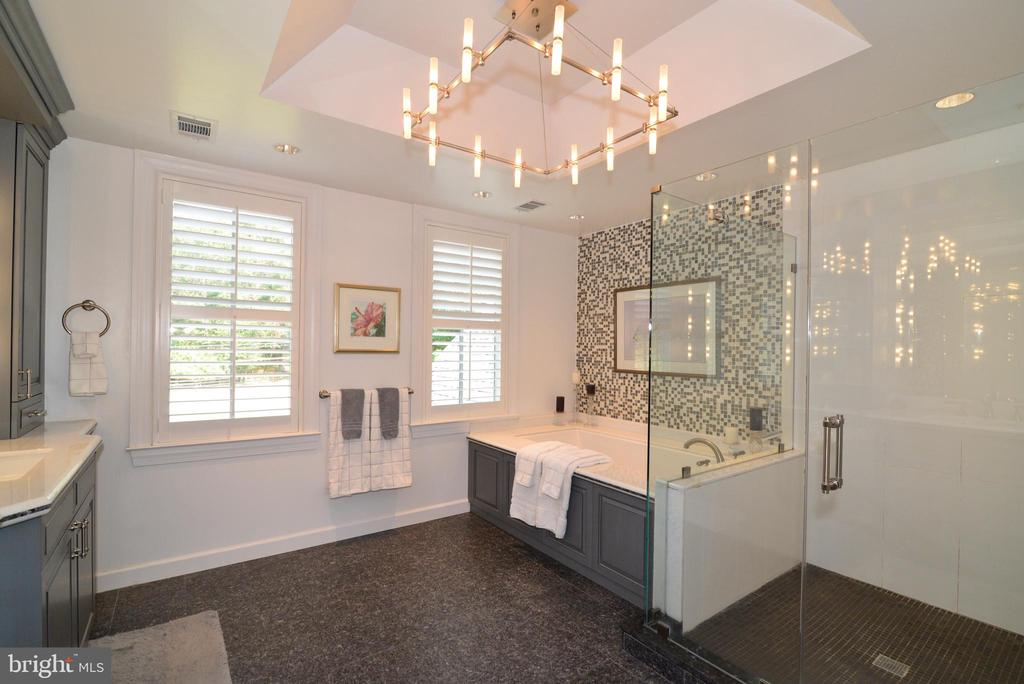 Stunning Custom Spa-Like Master Bath. - 10507 WICKENS RD, VIENNA