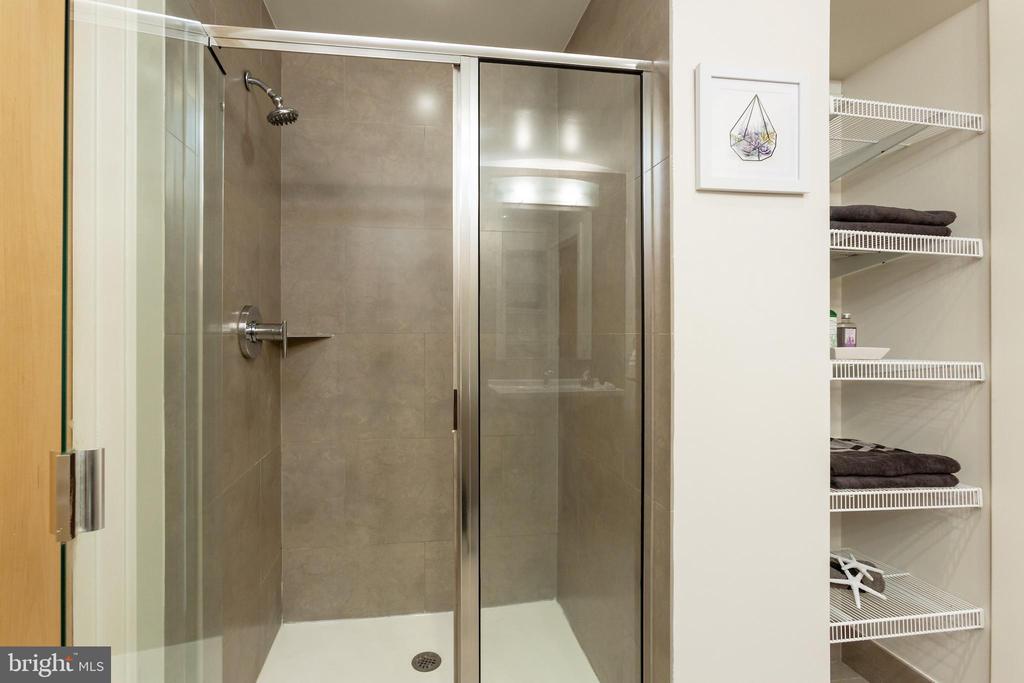 Walk-in Shower and Linen Storage - 1133 14TH ST NW #504, WASHINGTON