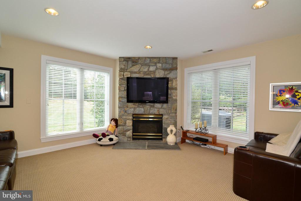 Light & Bright Lower Level  W/O w/Gas Fireplace. - 10507 WICKENS RD, VIENNA