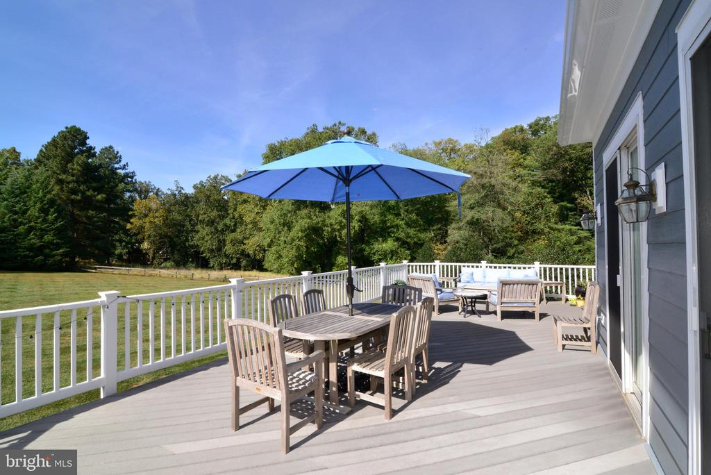 Expansive Deck with Views of Private Acreage. - 10507 WICKENS RD, VIENNA