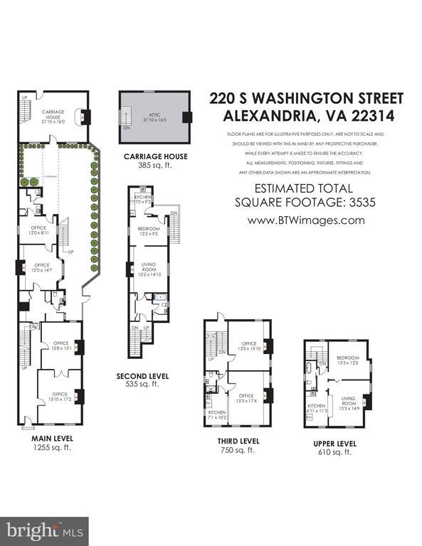 Floor plans - 220 S WASHINGTON ST, ALEXANDRIA