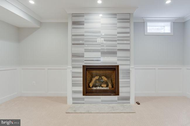 Basement fire place. - 7022 HECTOR RD, MCLEAN