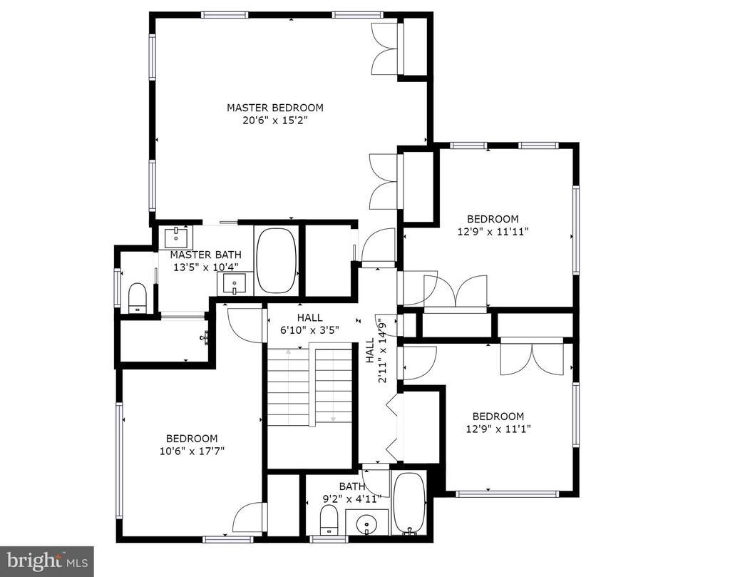 2nd Level Floor Plan - 704 CHALFONTE DR, ALEXANDRIA