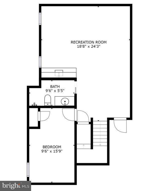 Lower Level Floor Plan - 704 CHALFONTE DR, ALEXANDRIA