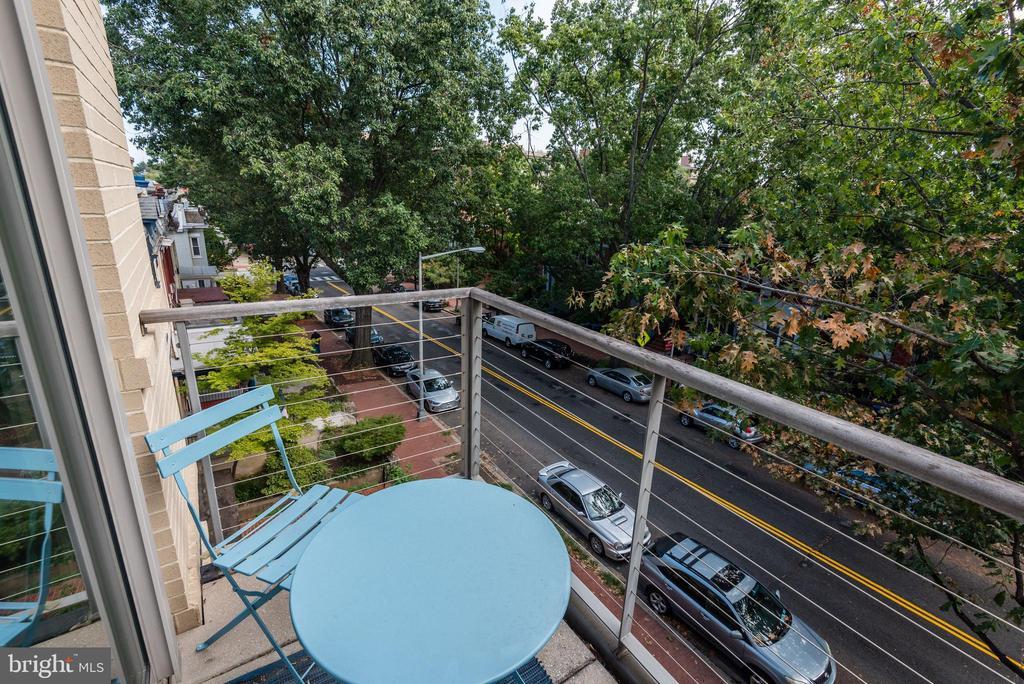 Balcony off Third Bedroom/Nursery - 624-1 8TH ST NE #201, WASHINGTON