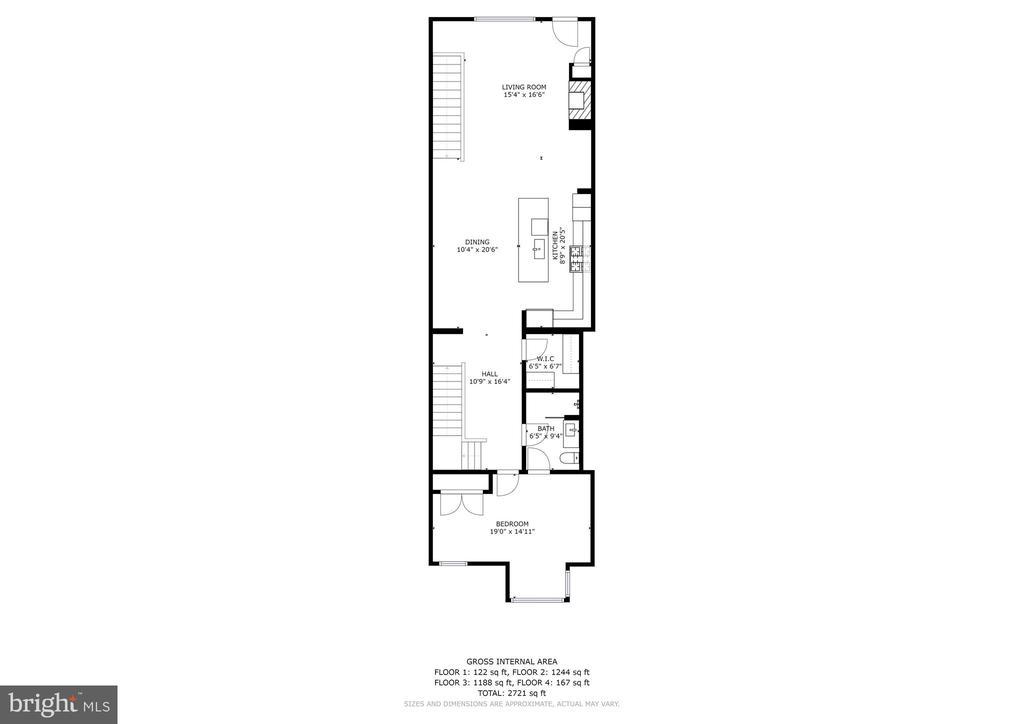 Main Level - 624-1 8TH ST NE #201, WASHINGTON