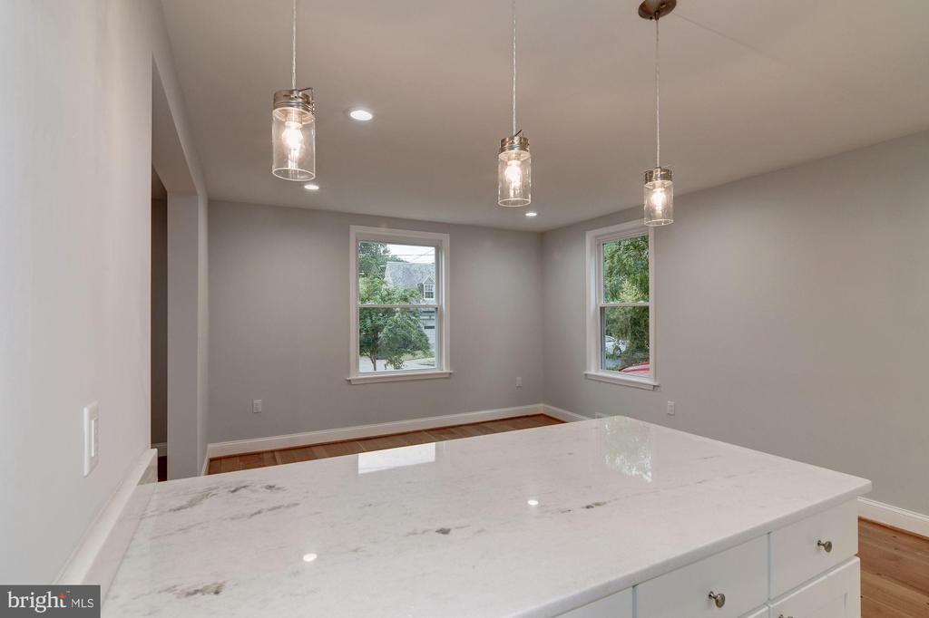 Kitchen overlooking Dining Room - 1810 RANDOLPH ST NE, WASHINGTON