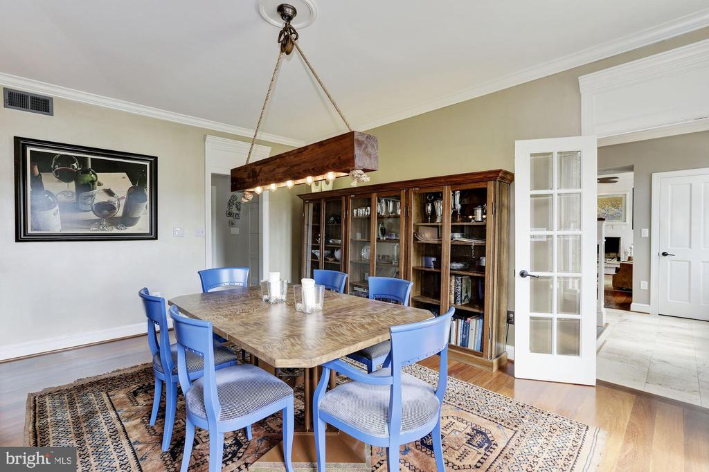 Formal Dining & French Doors to Foyer - 12580 HALL SHOP RD, FULTON