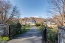 Private drive with iron gates - 8548-A GEORGETOWN PIKE, MCLEAN