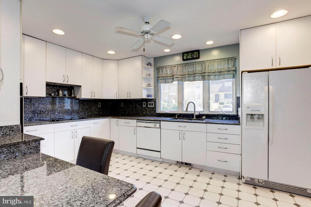 Kitchen - Counter Top Space That Goes On For Days! - 1706 TYVALE CT, VIENNA