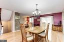 Dining Room Opens Beautifully to Living Room - 1706 TYVALE CT, VIENNA