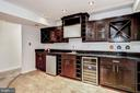 Built-In Wet Bar in Lower Level - 1440 ROSEWOOD HILL DR, VIENNA