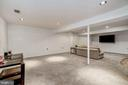 Lower Level Recreation Room - 1440 ROSEWOOD HILL DR, VIENNA