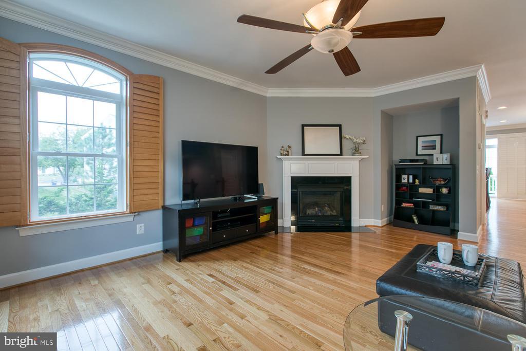 Light-filled Living Room w/ gas fireplace! - 122 QUIETWALK LN, HERNDON