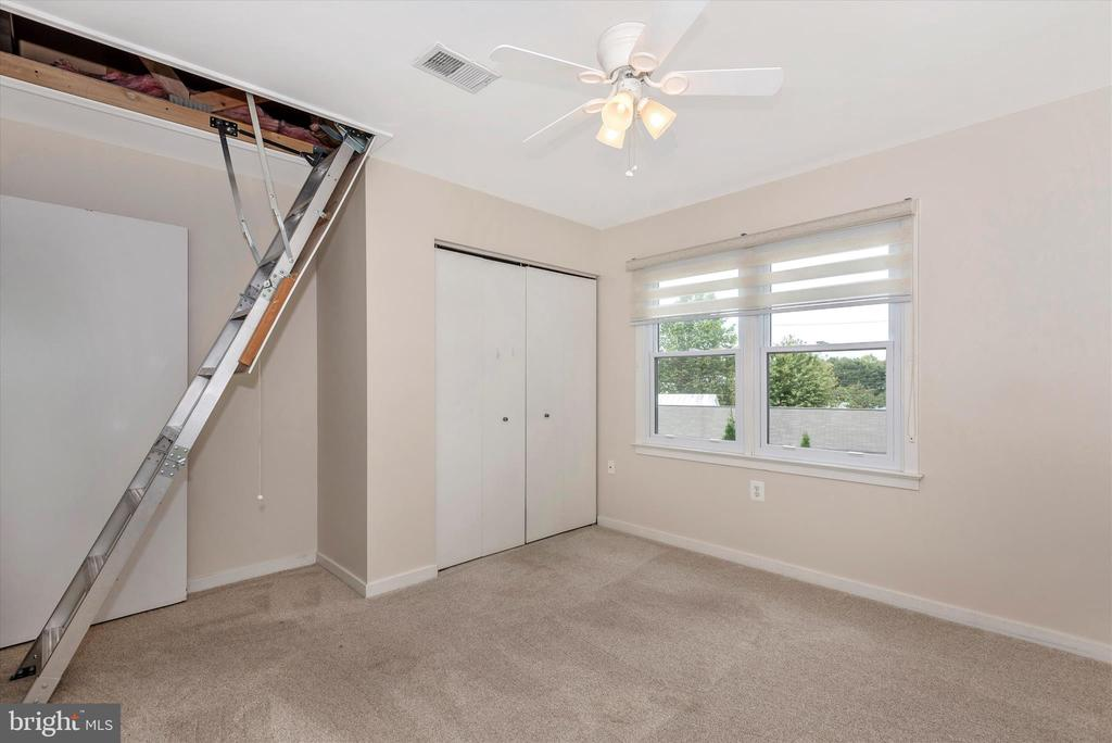 Pull down steps lead to partially floored attic - 820 MEWS LN, FREDERICK