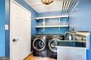 laundry / mud room between garage and kitchen - 3706 RIVERWOOD CT, ALEXANDRIA