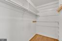 master walk-in closet - 3706 RIVERWOOD CT, ALEXANDRIA