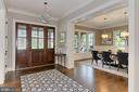 Foyer - view to formal Dining Room - 900 GLYNDON ST SE, VIENNA
