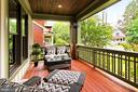 Front porch with mahogany floor and ceiling - 900 GLYNDON ST SE, VIENNA