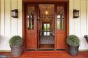 Mahogany front door and sidelights - 900 GLYNDON ST SE, VIENNA