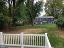 Backyard view from Deck - 7534 LISLE AVE, FALLS CHURCH