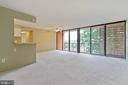 Such a wonderful wide open space for entertaining - 12 S VAN DORN ST #404, ALEXANDRIA