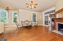 Living Room w/Original Hardwood Floors & Fireplace - 216 E MAIN ST, MIDDLETOWN