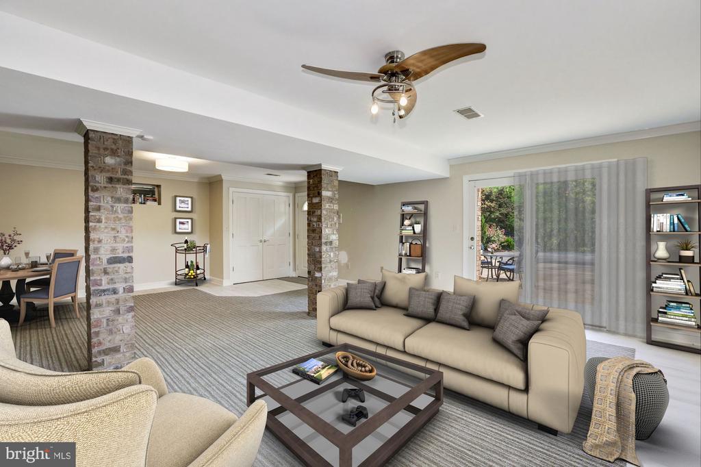 Apartment Living Room - 12580 HALL SHOP RD, FULTON