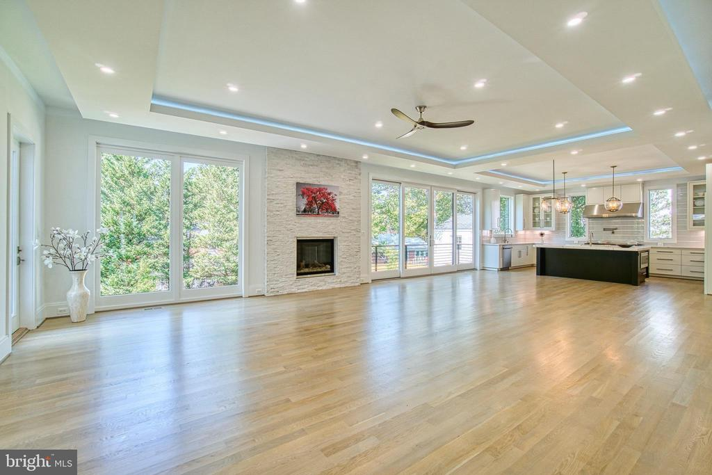 Modern Tray Ceilings with Recessed & Rope Lighting - 4531 40TH ST N, ARLINGTON