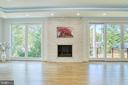 Gas Fireplace Surrounded by Quartzite Stone - 4531 40TH ST N, ARLINGTON